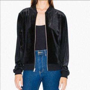 American Apparel Velvet Amelia Jacket in Black